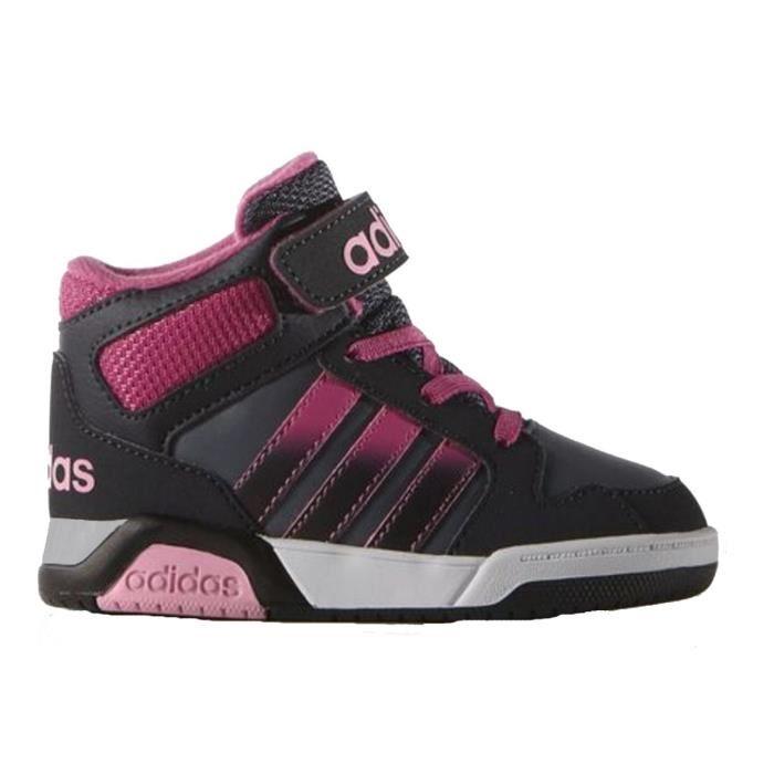 ADIDAS NEO Baskets Hoops Chaussures Enfant Fille Noir et