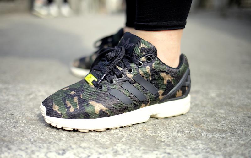 adidas zx flux camouflage bleu online