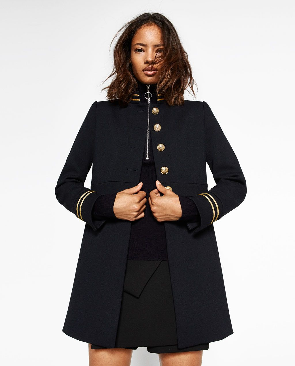 veste style officier femme zara